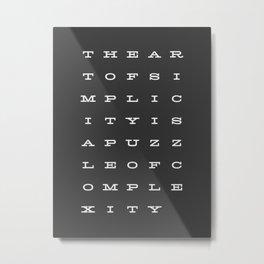 The Art of Simplicty Metal Print