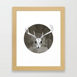 Stag Skull Framed Art Print