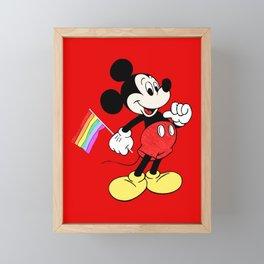 Mickey Mouse - Gay Pride - Gay Days - Pop Art Framed Mini Art Print