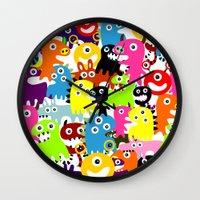 aliens Wall Clocks featuring ALIENS  by d.ts