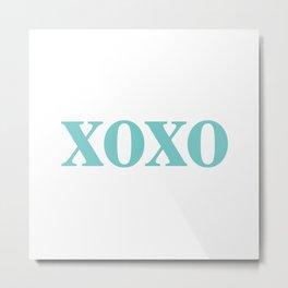 Aqua XOXO Metal Print