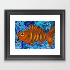 Golden Striped Bass Framed Art Print