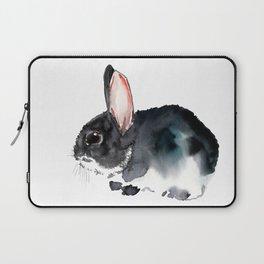 Bunny, Cute gray bunny Nursery Art children room watercolor bunny art Laptop Sleeve