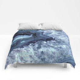 Steely Blue Quartz Crystal Comforters