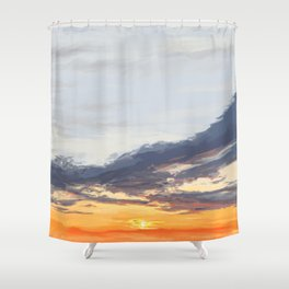 Sunset on the St George River 3 Shower Curtain