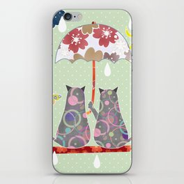 """A series of """" Favorite pillow """".Cats love. iPhone Skin"""