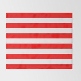 Horizontal Stripes (Red/White) Throw Blanket