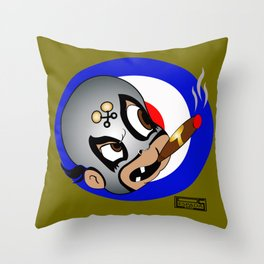 Baby Lucha two Throw Pillow