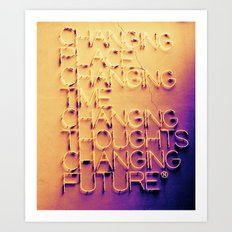 Changing Art Print