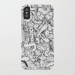 Alphabetcha Collage b&w iPhone Case