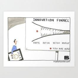 Innovation Funnel Art Print