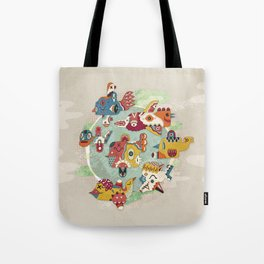 The other side of another sun Tote Bag