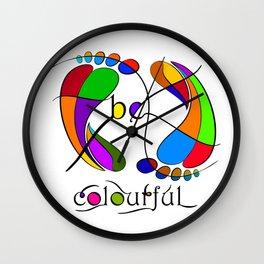 Trapsanella - be colourful Wall Clock