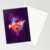 Cursed Heart Stationery Cards