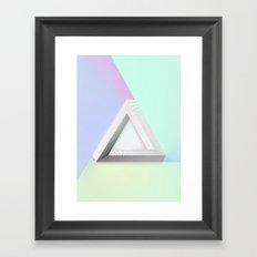 Imposible Geometry Framed Art Print