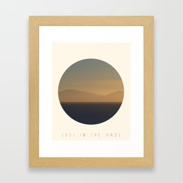 Lost In The Haze Framed Art Print
