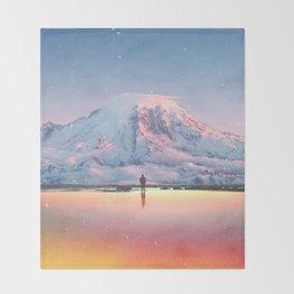 Mount Rainier Washington State Throw Blanket