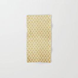 Mermaid Tail Pattern  |  Gold Glitter Hand & Bath Towel