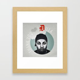 Thank You, J Dilla Framed Art Print