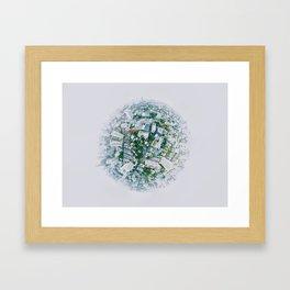 Fish Eye World View (Color) Framed Art Print