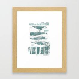 Beluga Whale Humpback Whale Killer Whale Art Gift TShirt Framed Art Print