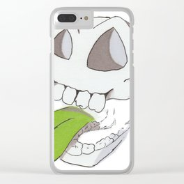 Slappy Skull Clear iPhone Case