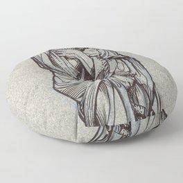 Winter, Louvre, Paris Floor Pillow