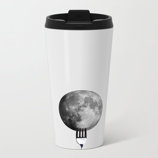 Moon and fork Metal Travel Mug