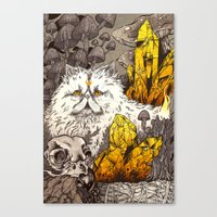 witchcraft Canvas Prints featuring Witchcraft by Angela Rizza