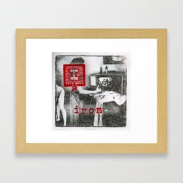 I is for iron Framed Art Print