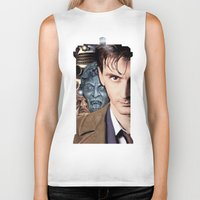 doctor who Biker Tanks featuring Doctor Who by SB Art Productions