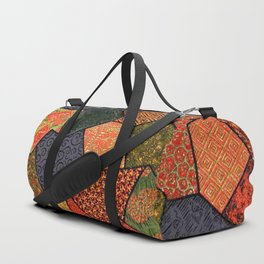 Japanese colorful quilt patchwork Duffle Bag