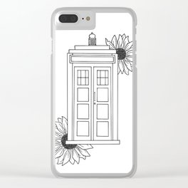 Doctor Who Tardis Illustration Design Clear iPhone Case