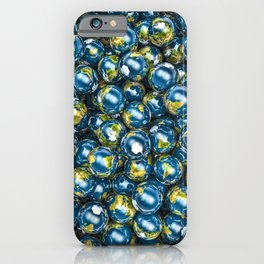 Earths / 3D render of Earth globes iPhone Case