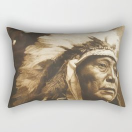 Chief Running Antelope - Native American Sioux Leader Rectangular Pillow