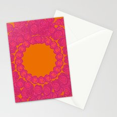 Pink Rose Wreath Stationery Cards