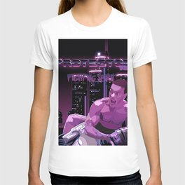 Van Damme vs. Robocop fighting spirit T-shirt