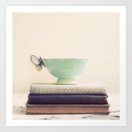 Tea & Books Art Print