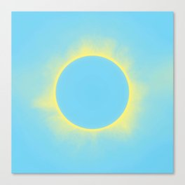 Solar Eclipse in Baby Blue Color Canvas Print