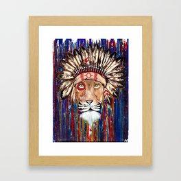 Lion Chief Framed Art Print