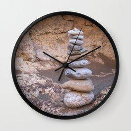 Rock Piles Wall Clock