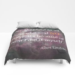 I AM THANKFUL (quote) Comforters