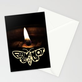 Flame to the moth Stationery Cards