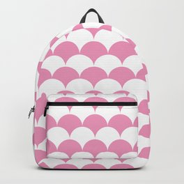 Light Pink Clamshell Pattern Backpack
