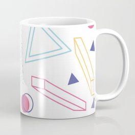CUTE 80S INSPIRED GEOMETRIC PATTERN Coffee Mug