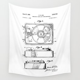 Turntable Patent Wall Tapestry