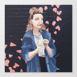 Influencers Illustrated: Zoella Canvas Print