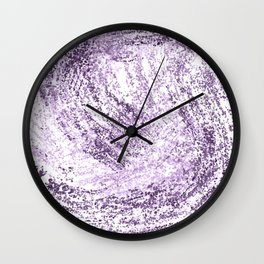 Purple Abstract Artistic Simple Design For Her Wall Clock