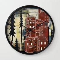 karl Wall Clocks featuring Karl by jesse best