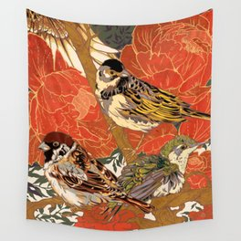 Morning Peonies Wall Tapestry